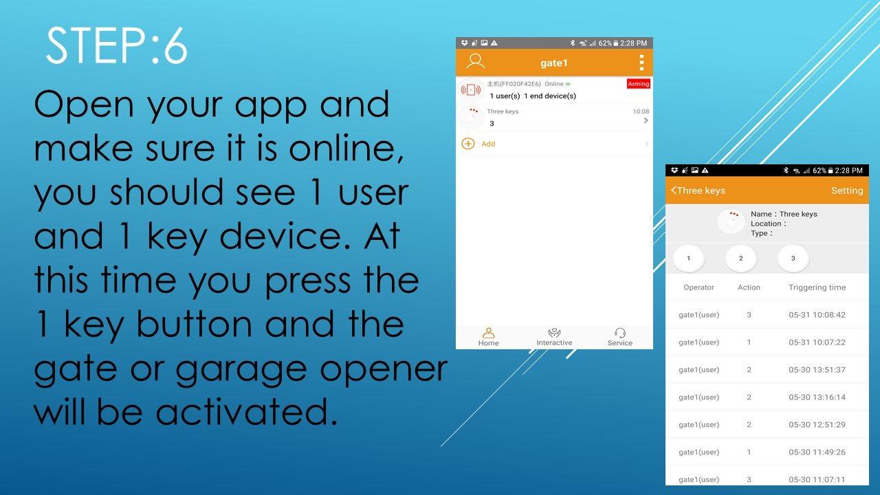 Gate1 Garage Gate Smartphone App Step 6 Automatic Gate Opener Automatic Gate Smartphone