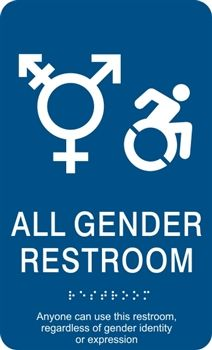 all gender ada braille restroom sign - All Gender Bathroom Sign