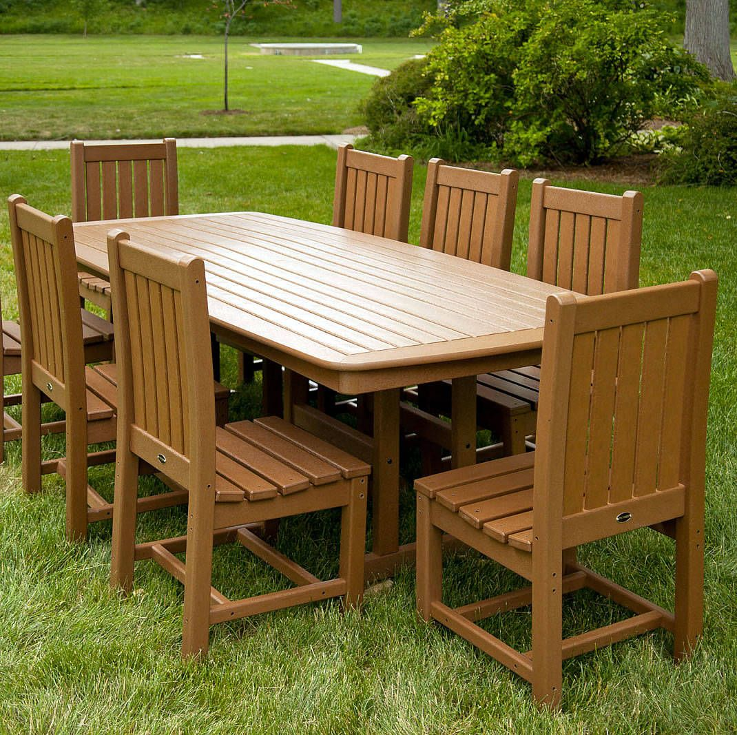 Polywood Nautical 44 X 96 In Dining Table In 2020 Outdoor Dining