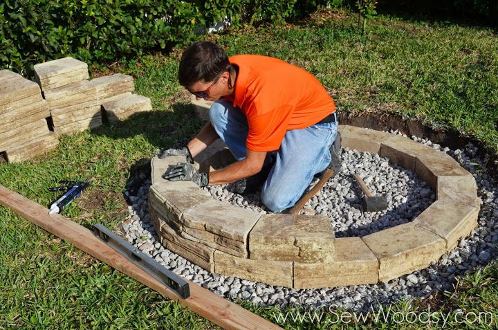 How To Build Outdoor Fire Pit Via Sewwoodsy For Homes Diy Video