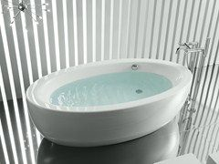 Vasca da bagno centro stanza ovale GEORGIA - ROCA