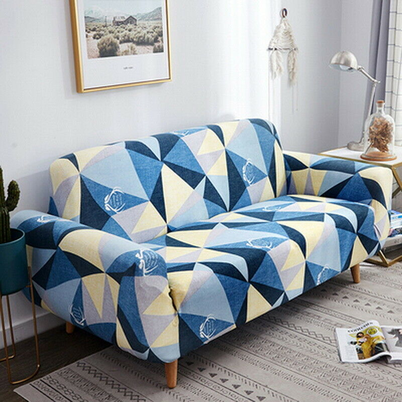 3//4 Seater Stretch Sofa Covers Couch Cover Elastic Slipcover Protector Christmas