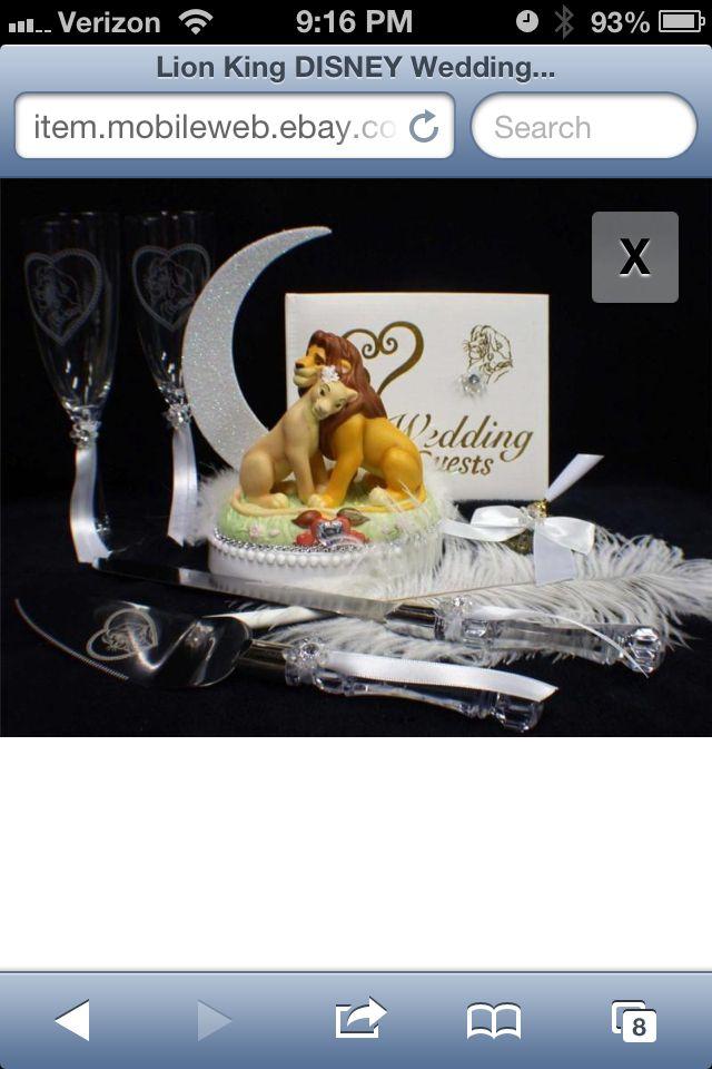 The Lion King Wedding Set I HAVE To Have Weddings Pinterest - Lion King Wedding Cake