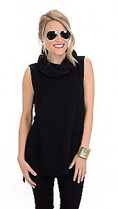 On a Roll Sweater Tunic, Black