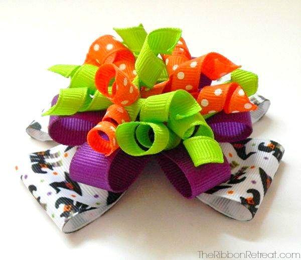 Halloween Stacked Korker Bow - The Ribbon Retreat Blog