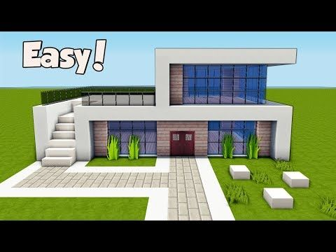 Minecraft How To Build A Small & Easy Modern House Tutorial 25