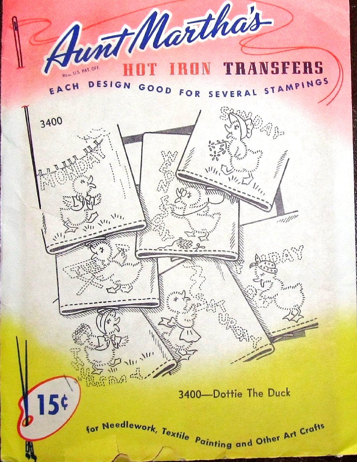 Aunt Martha/'s Iron-On Transfer Collection-50 State Birds