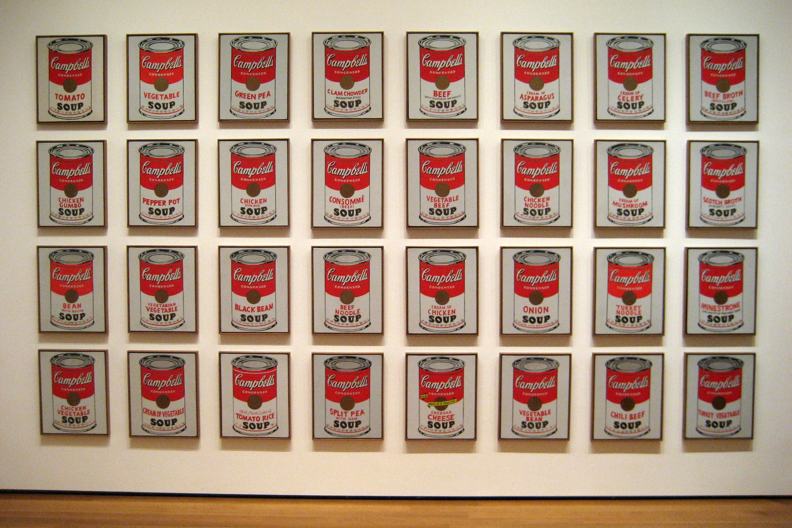 The Art Of Soup Warhol Andy Warhol Campbell S Soup Cans