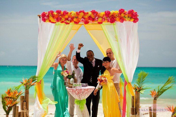 Tropical Style Beach Wedding In Punta Cana Vals Weddings