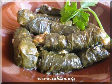 Feuilles de vigne farcies libanaises cuisine libanaise par sahten cuisine du monde - Feuille de cuisine ...