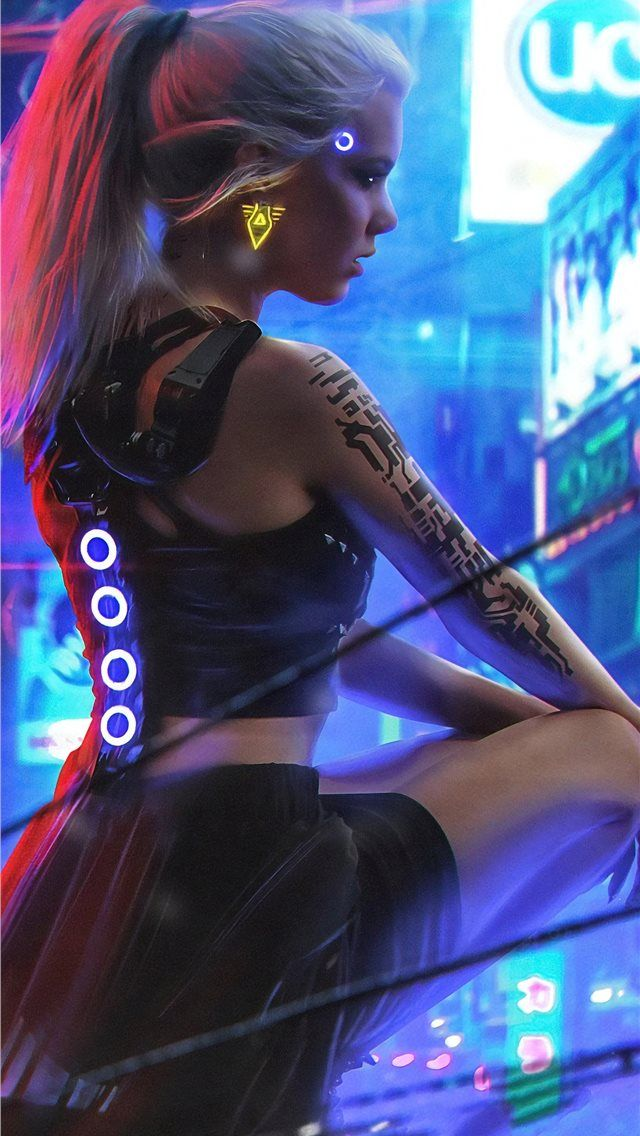 Free Download The Cyberpunk Neon Girl 4k Wallpaper Beaty Your Iphone Cyberpunk 2077 Games 2019 Games Neon Artis In 2020 Neon Girl Cyberpunk Girl Cyberpunk 2077