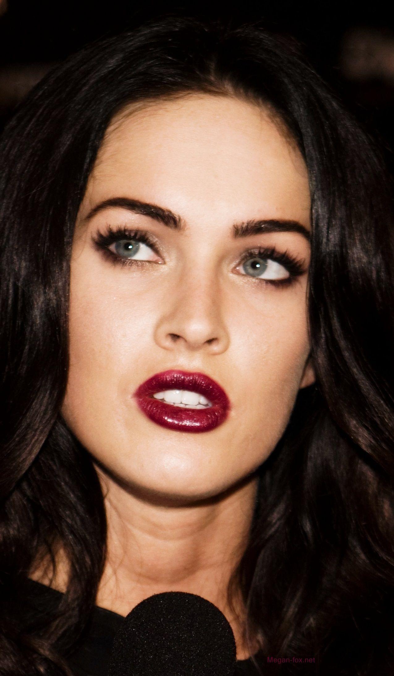 Dark hair and berry lips