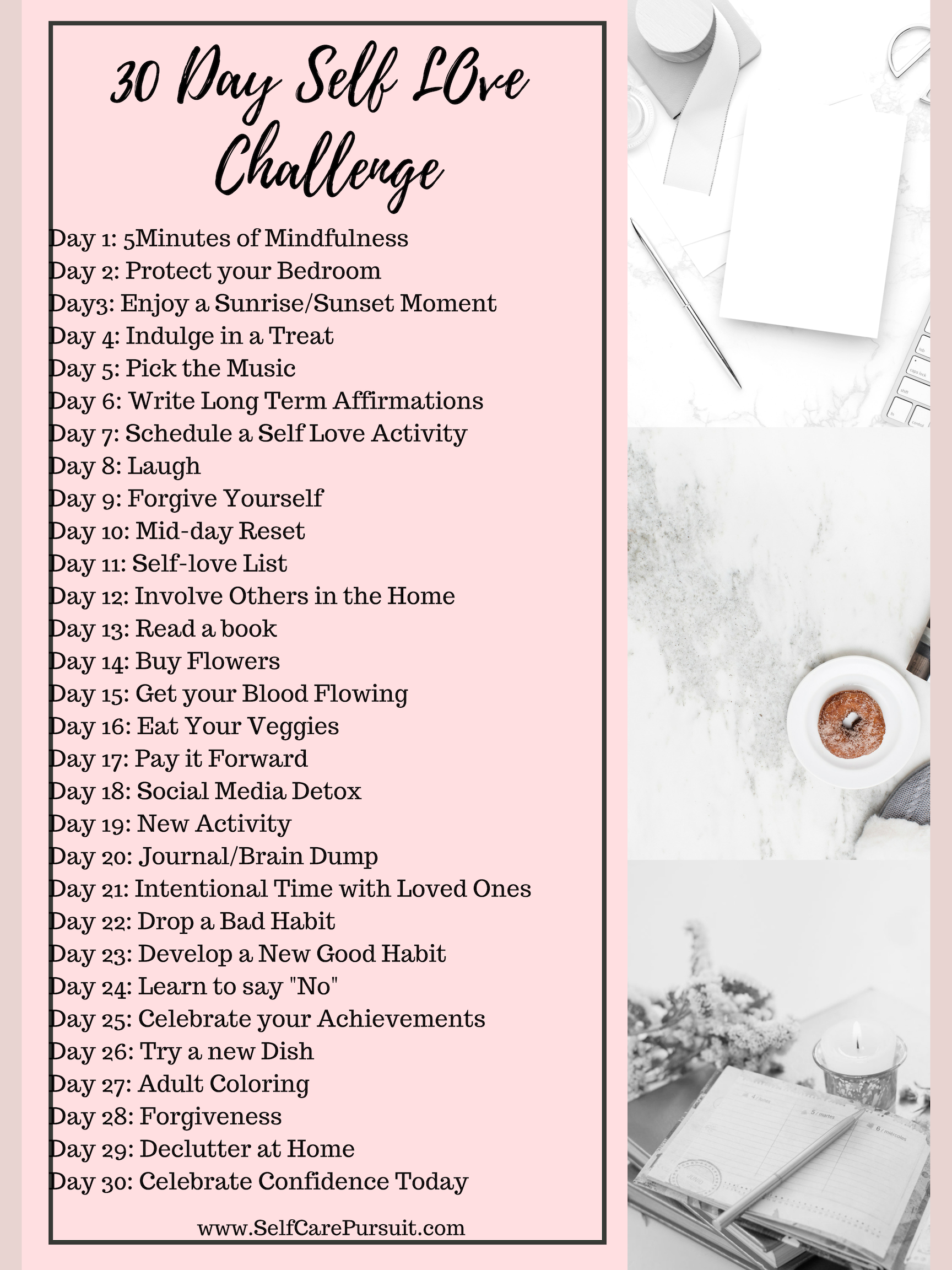 Take This 30 Day Self Love Challenge To Be Intentional