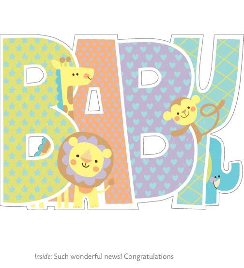 Baby Shower Card Greetings: Baby Shower Greeting Card