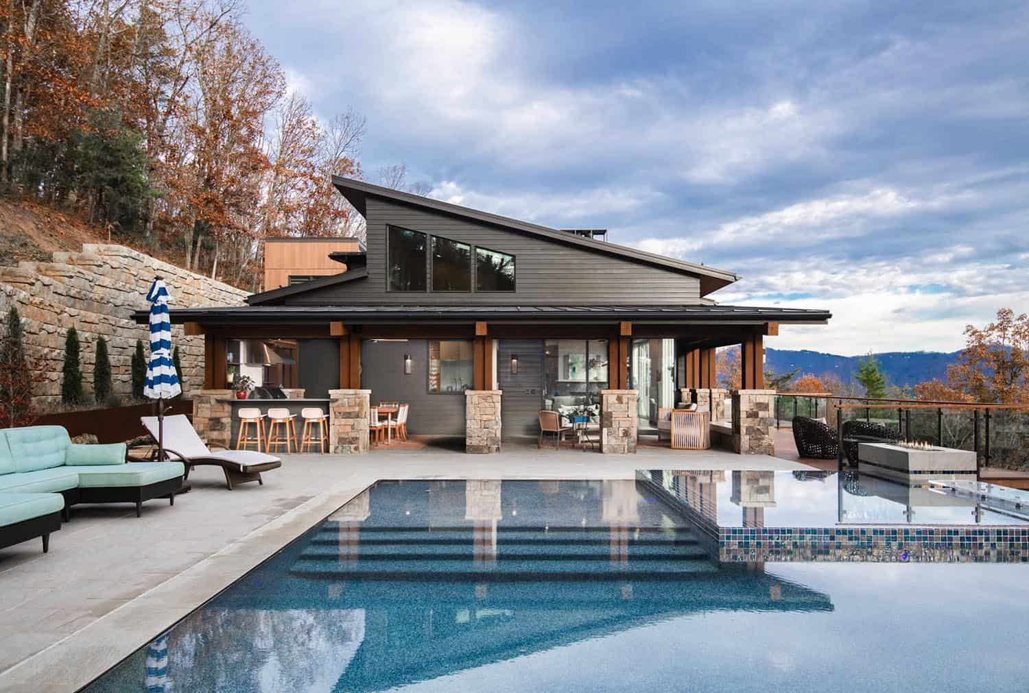 Beautifully Inspiring Mountain Home Nestled In The Blue Ridge Mountains In 2020 Swimming Pool Designs Mountain Home Pool