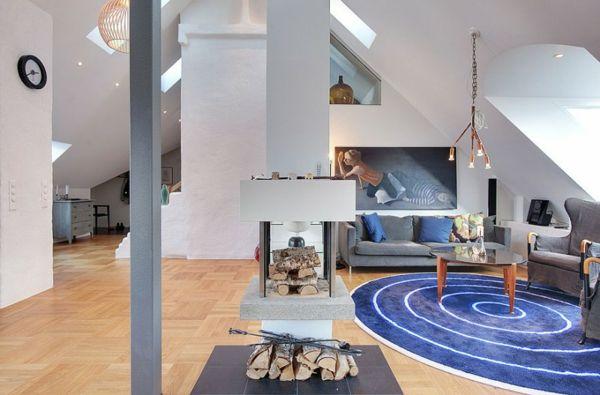 Moderne Dachwohnung im skandinavischen Stil #dachwohnung #moderne ...