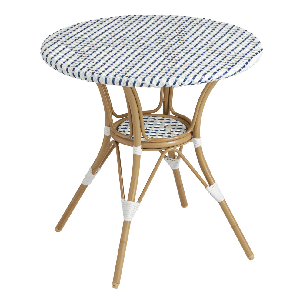 All Weather Wicker Woven Amelie Outdoor Dining Table In 2020
