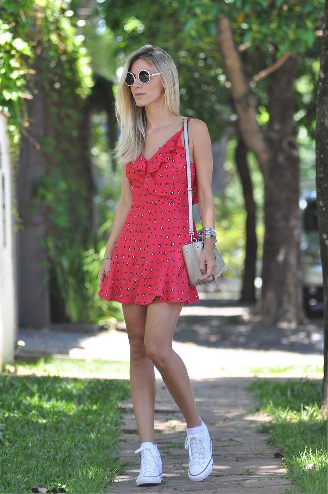 LOOK DO DIA VESTIDO ESTAMPADO | Looks, Moda, Vestidos estampados