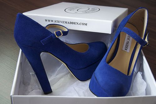 royal blue steve madden's