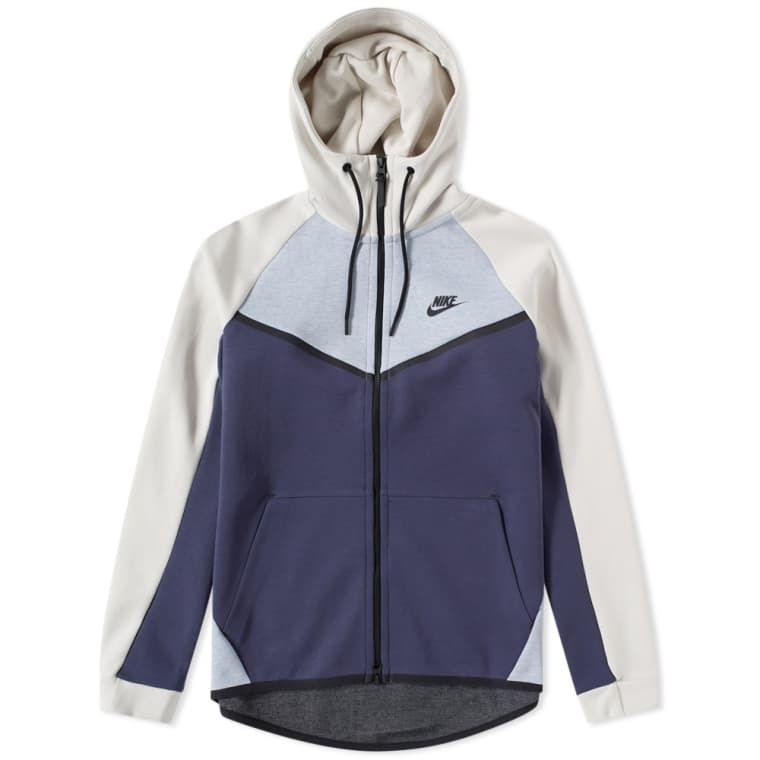 6b9a74941b3dd Nike Tech Fleece Windrunner Zip Hoody (Glacier Grey
