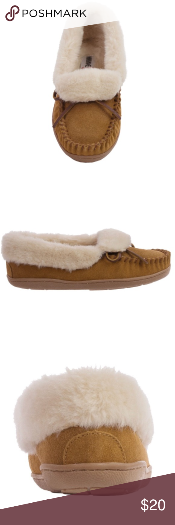 e0b5cdab90e Minnetonka Trina folded faux fur trapper Great condition. Comes with  original box. Minnetonka Shoes Moccasins
