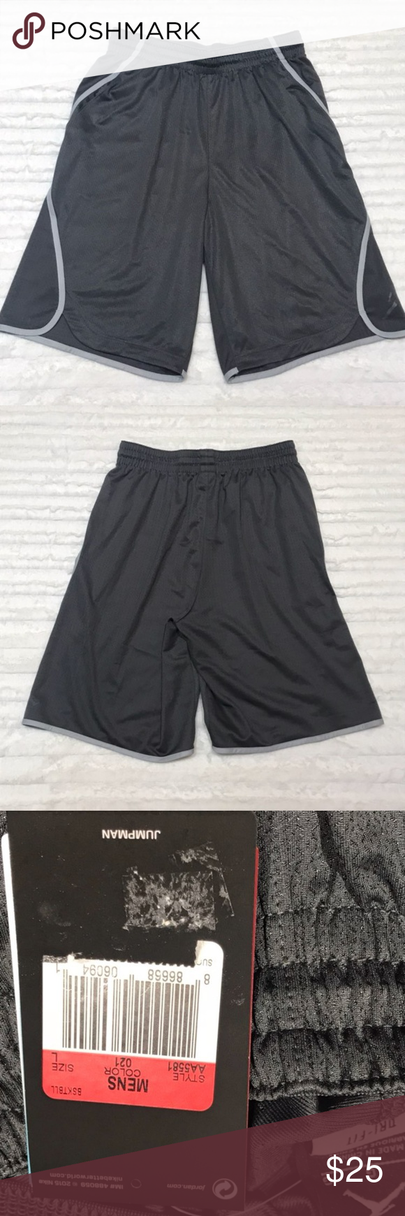 5b23f37dffb NWT Nike Jordan Jumpman Basketball Shorts New with Tags Nike Jordan Sz L Mens  Jumpman Basketball Flight Victory Shorts AA 5561 Gray Measures flat: 15  inches ...