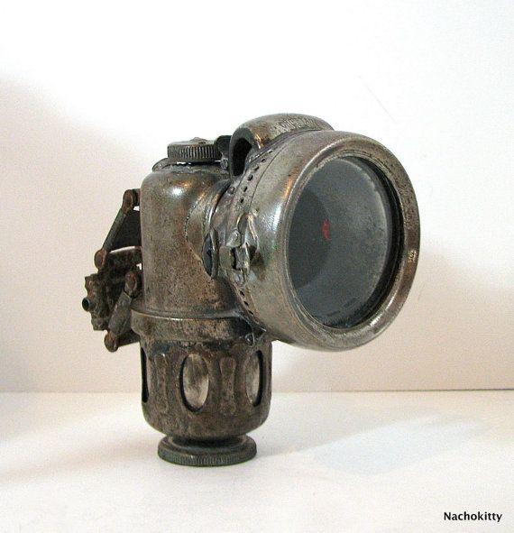 19th Century Bicycle Head Lamp Antique Motorized von Nachokitty, $175,00