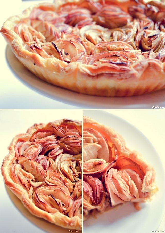 tarte aux pommes comme un bouquet tarte aux pommes pinterest la pomme bouquet et tartes. Black Bedroom Furniture Sets. Home Design Ideas