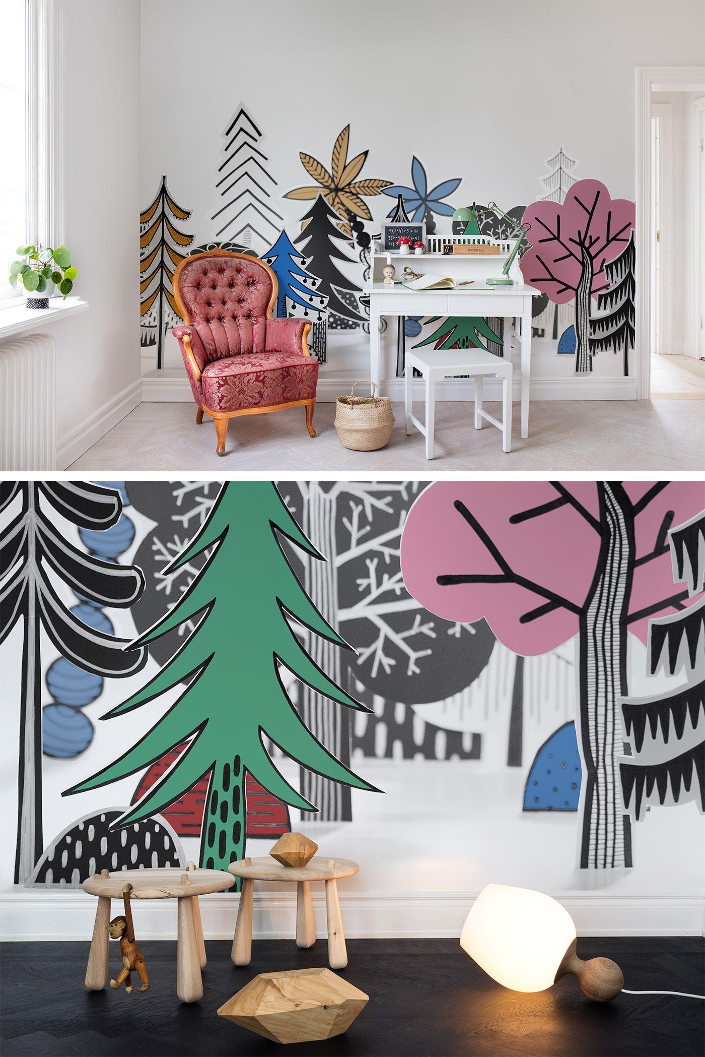 Nordic Valley, Color Kinderzimmer tapete, Dekor, Kinder