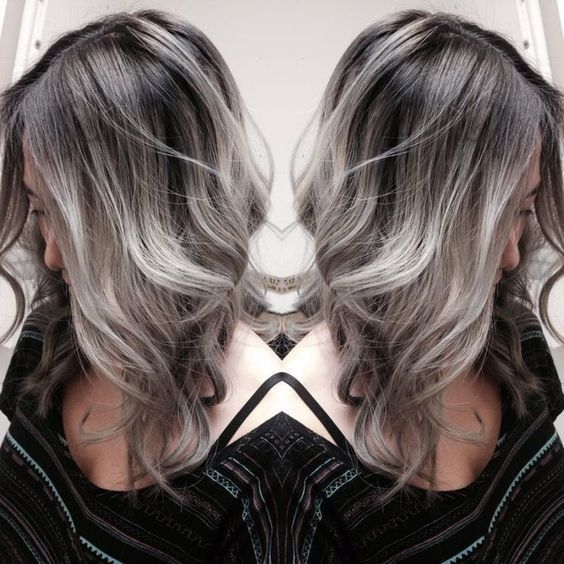 21 Pinterest Looks That Will Convince You to Dye Your Hair Grey | The Perfect Silver Color Melt