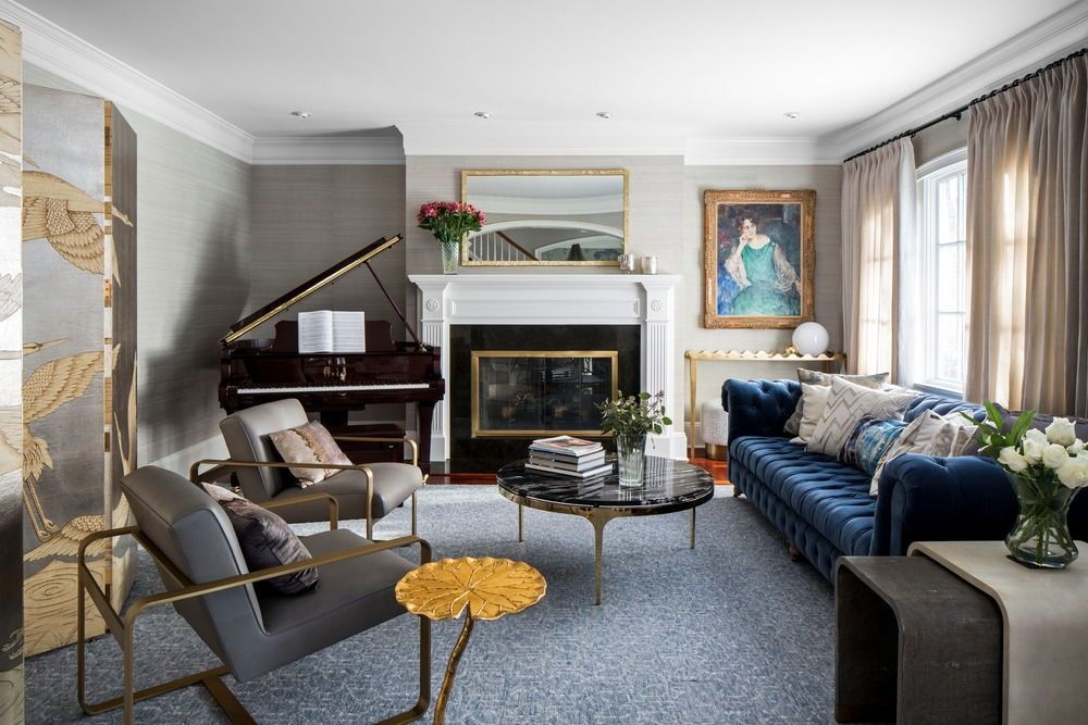 The Formal Living Room Boasts A Baby Grand Piano Near The