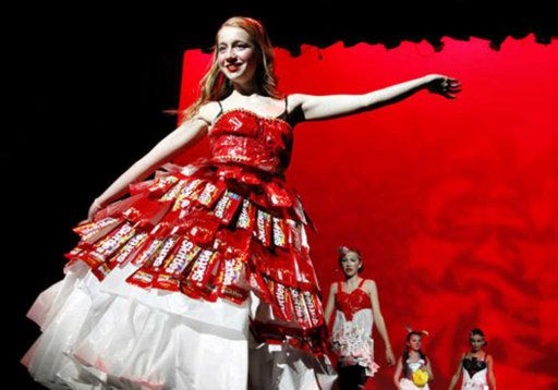 Creative But Weird Dresses Made Out Of Waste And Other Alternates 19