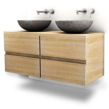 Badmeubel eikenhout van handgemaakt badkamer en facebook - Badkamer meubel model ...
