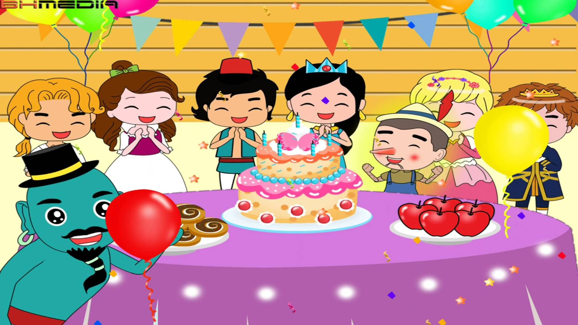 Happy Birthday Fairytale Style Birthday Song For Kids