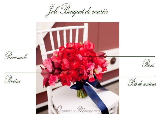 joli bouquet de mari e rouge renoncule rose pois de. Black Bedroom Furniture Sets. Home Design Ideas