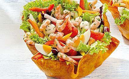 knusperschale beim salat von nordsee