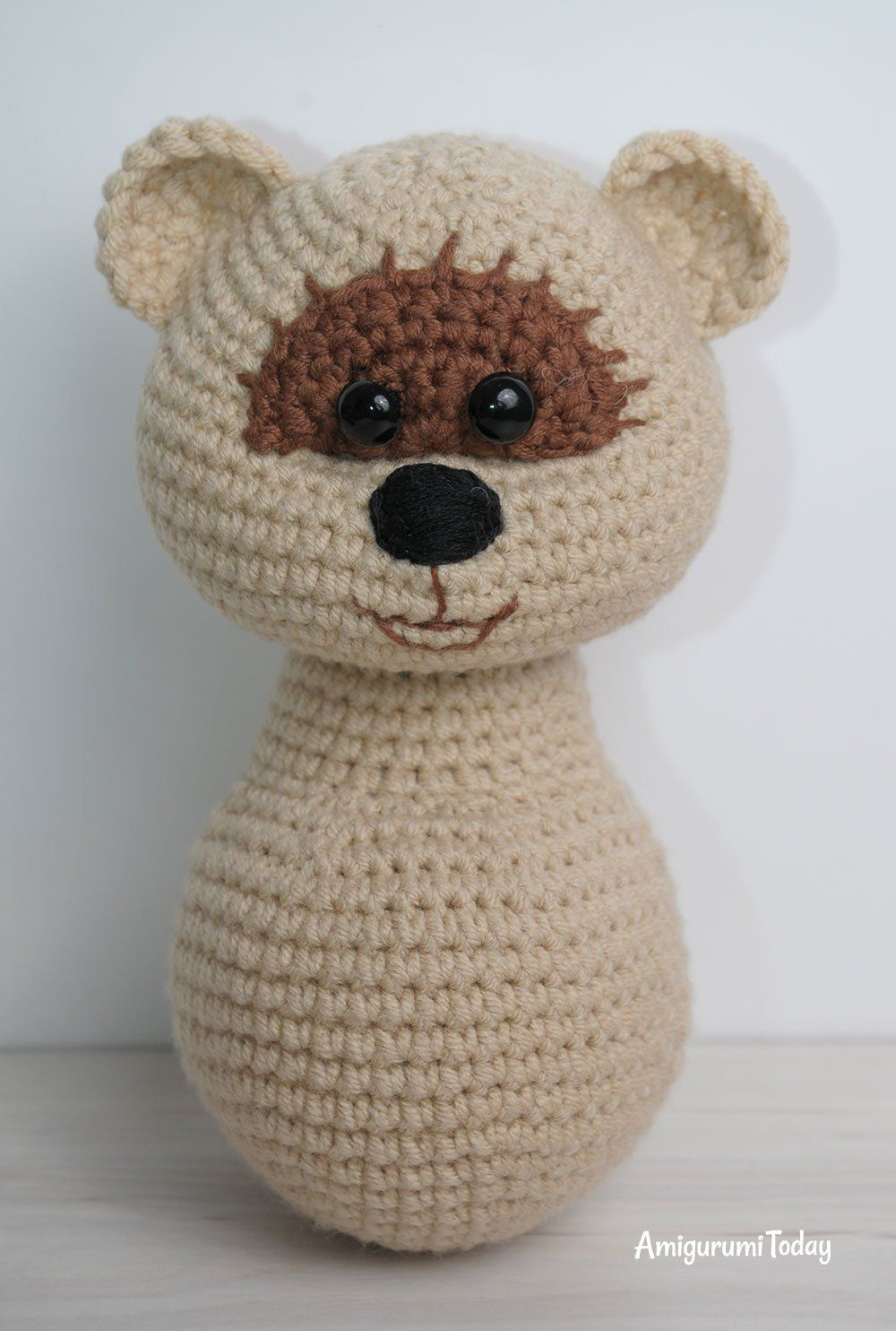 Honey teddy bears in love: crochet pattern | Honig, Amigurumi und ...