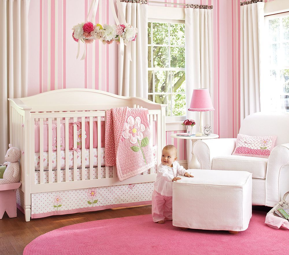 Beautiful Baby Nurseries pictures of baby girl nurseries | nice pink bedding for pretty