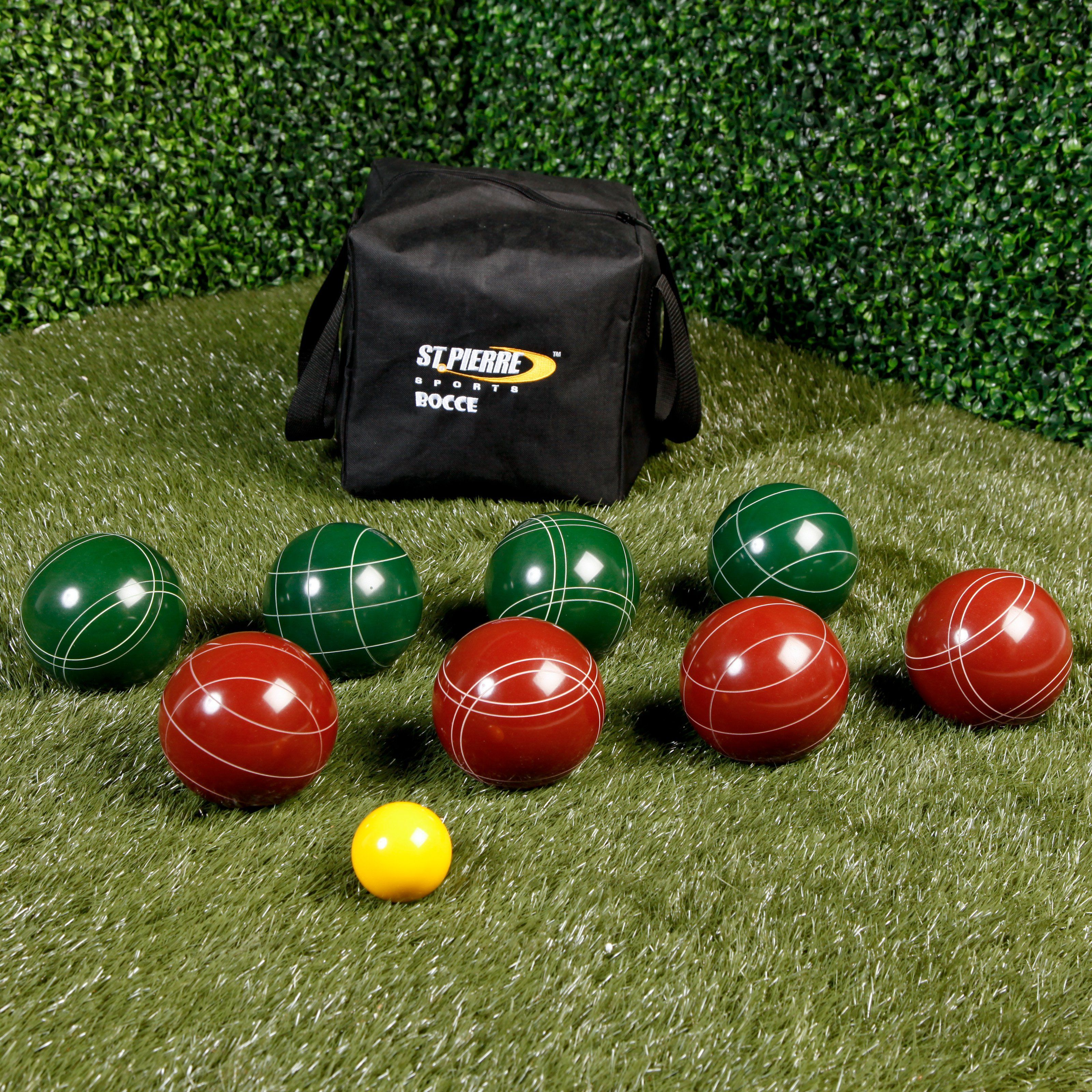 St. Pierre Official Tournament 107mm Bocce Set | from hayneedle.com   $99.99