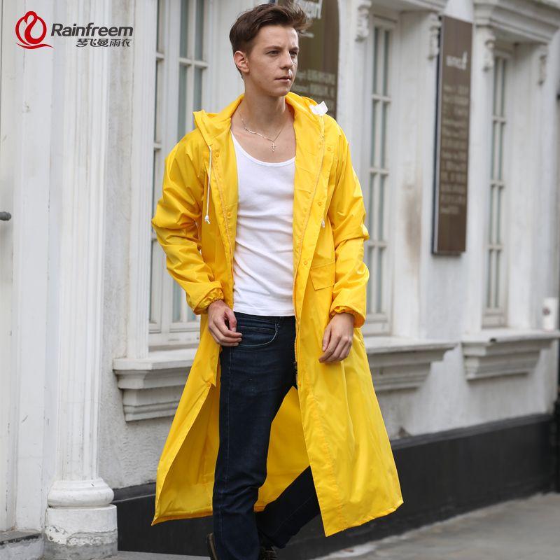 Rainfreem Men/Women Raincoat Impermeable Rain Jacket Plus Size S ...