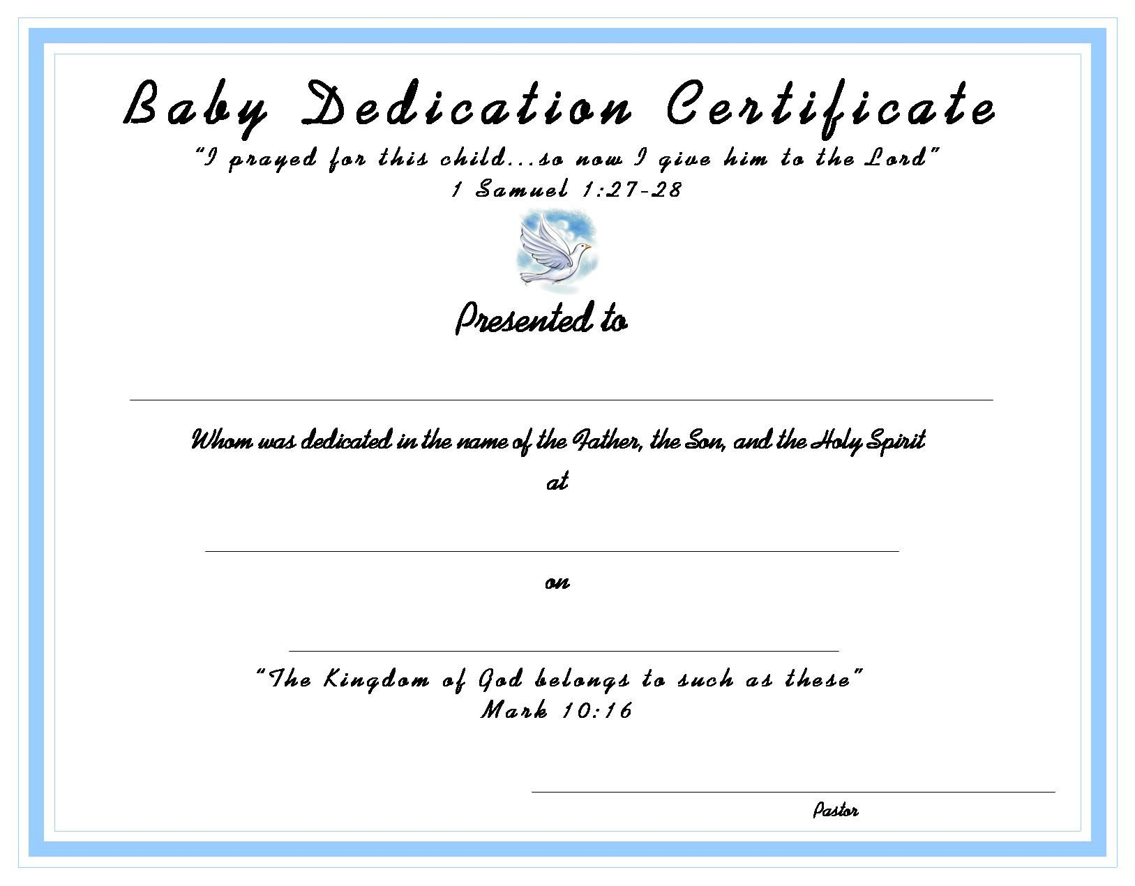WwwCertificatetemplateOrgBaby Dedication Certificate For Your