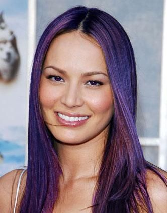 Colored Hair · Candy Pink Streaks | Full Head Of Purple That Is Subtle  Enough To Look Elegant.