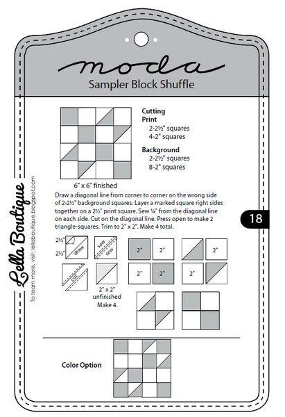 Moda Sampler Bloque shuffle - Bloque 18