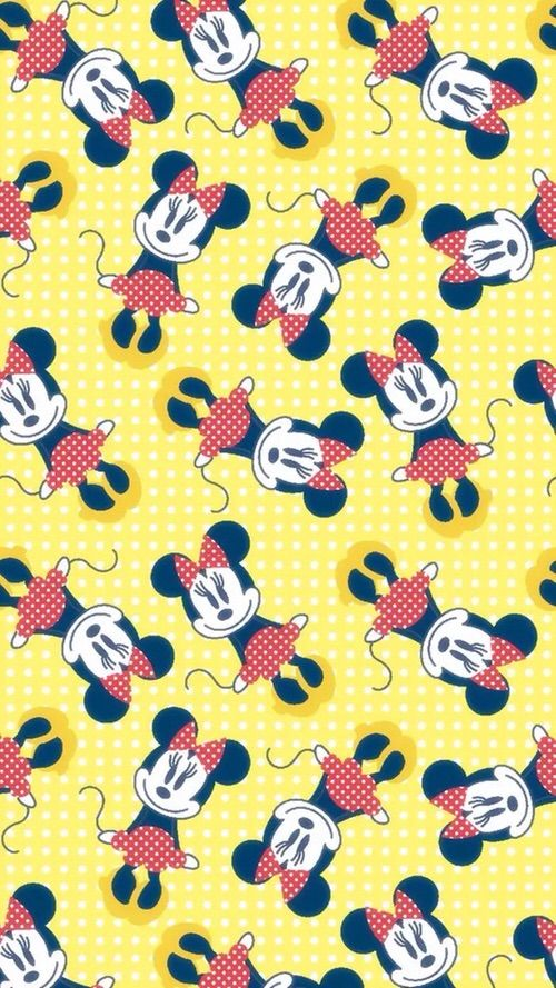 Image Via We Heart It Background Disney Minniemouse Pattern Wallpaper Wallpapersiphone