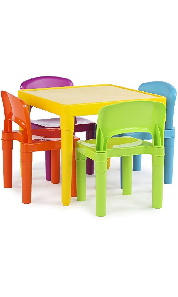 Tot Tutors Kids Plastic Table and 4 Chairs Set Vibrant Colors Best Price  sc 1 st  Pinterest & Tot Tutors Kids Plastic Table and 4 Chairs Set Vibrant Colors Best ...