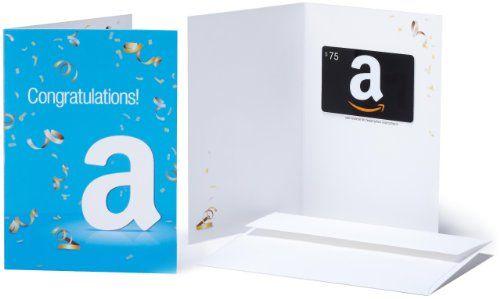 Amazon Com Gift Card 75 Congratulations Design 75 00 Amazon Gift Cards Gift Card Giveaway Amazon Gifts