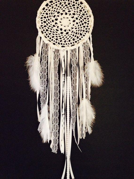 Large White Doily Dream Catcher Handmade Dream Catcher Crochet