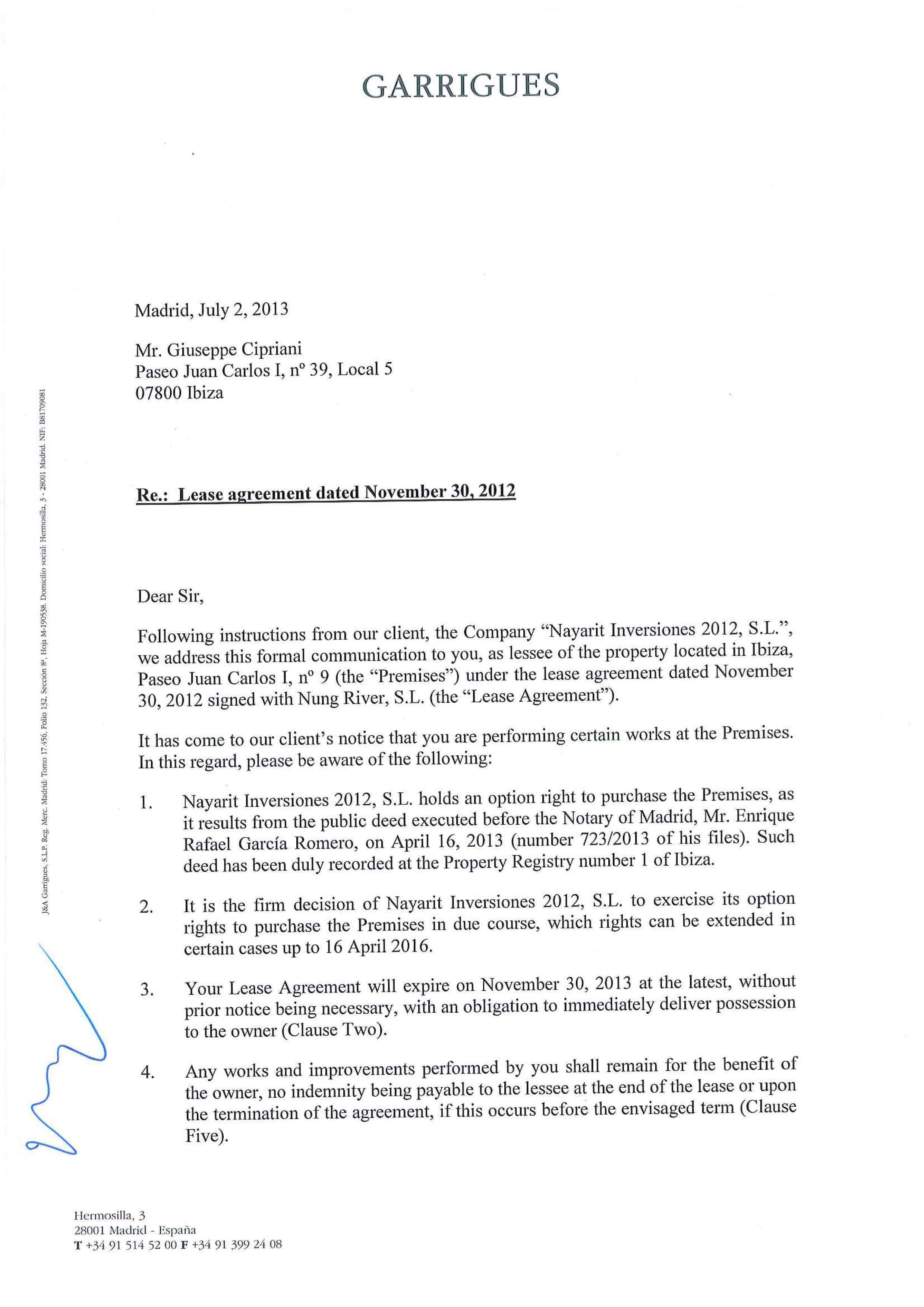 non renewal of lease letter nonrenewal of lease letter