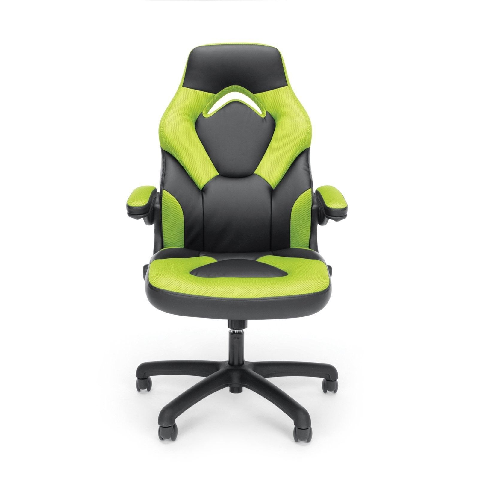 ergonomic office chair ebay rocking with cushions black green gaming racing style leather high computer seat