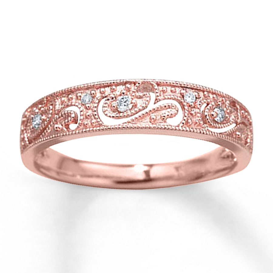 Diamond Ring 1/20 ct tw Round-cut 10K Rose Gold | Jewelry ...